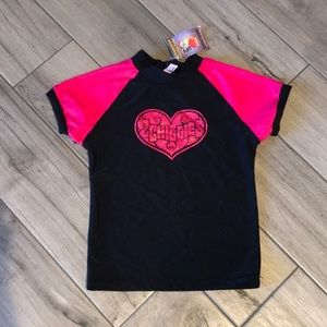 Black & Pink Short Sleeve Rashguard
